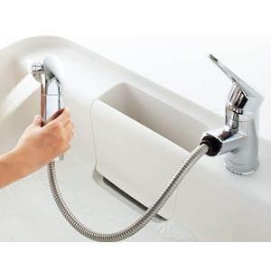 ワンホールシングルレバー混合水栓 ハンドシャワー付 エコハンドル 凍結防止水抜き仕様