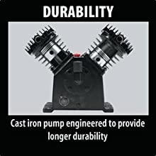 DURABILITY Cast iron pump engineered to provide longer durability