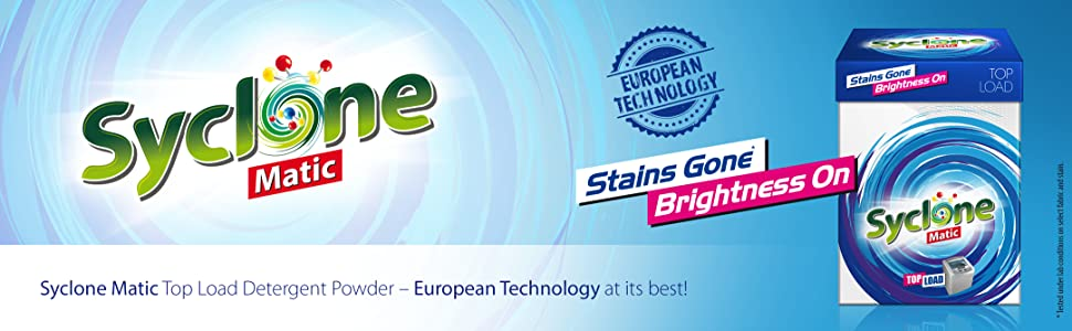 Syclone Matic Top Load Detergent Powder