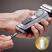 50 mins cordless shaving
