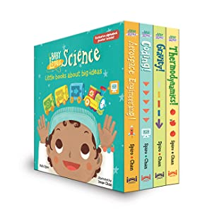 Baby Loves Science boxed set front view thermodynamics gravity coding aerospace engineering