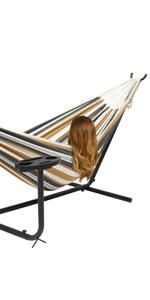 Amazon Com Double Hammock With Space Saving Steel Stand