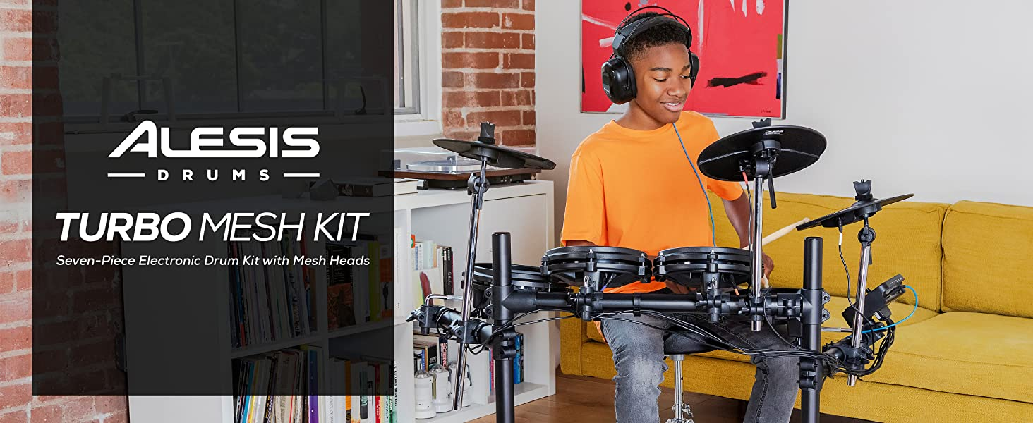 Turbo Mesh Kit Alesis Electronic Drum kit Free Melodics Exclusive Lessons Included