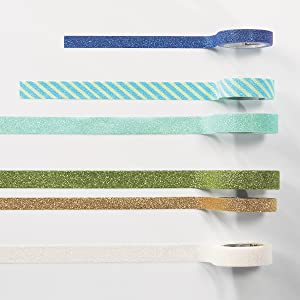 Scotch Expressions comes in several shades of blue and gree.