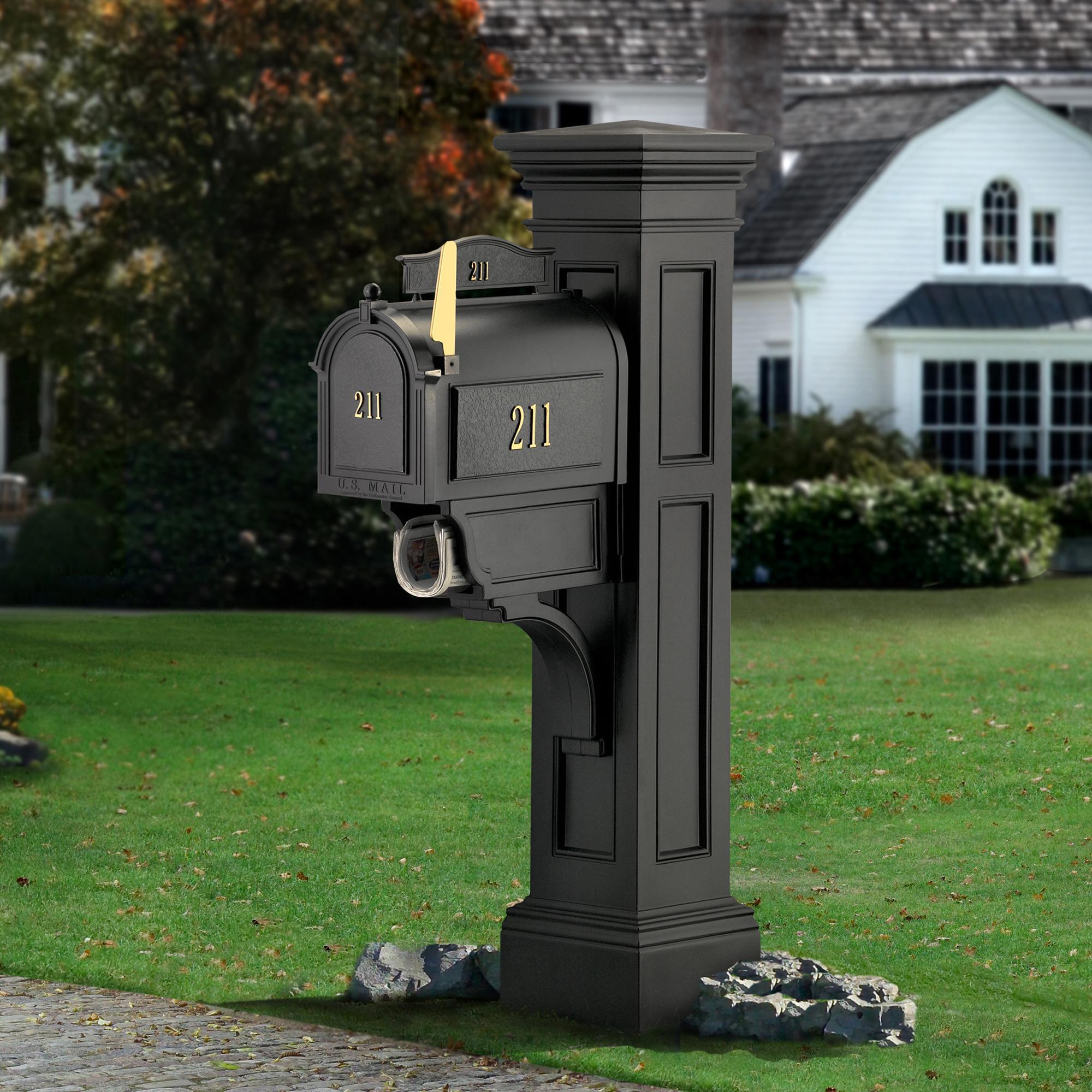 Mayne 5805-GG Liberty Mailbox Post, Granite