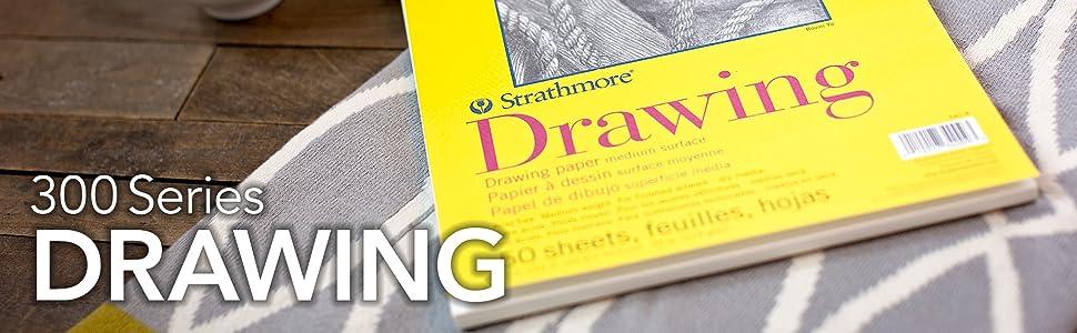 Strathmore 300 Series drawing paper pad. Artist sketchbook