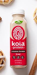 koia cinnamon horchata plant based protein shake dairy free drink