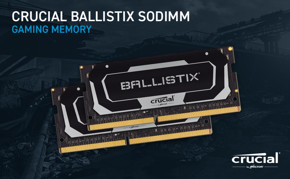 Crucial Ballistix SODIMM Gaming Memory