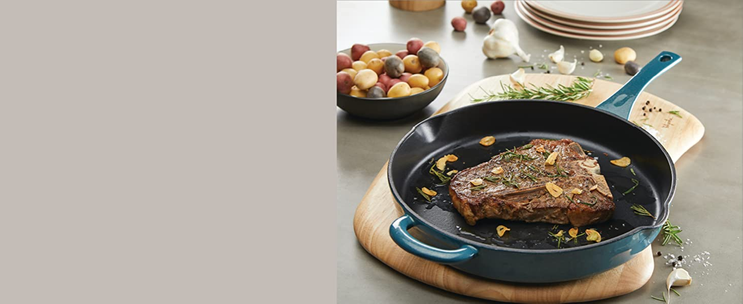 cookware, pots and pans, nonstick cookware, skillet, cast iron pan, ayesha curry