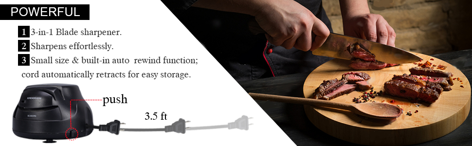 Amazon.com: Beionxii afilador de cuchillos eléctrico ...