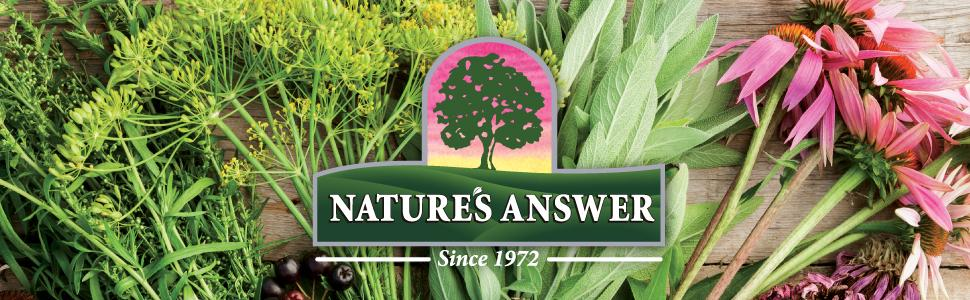 Nature's Answer, supplements, vitamin, herbal extract, botanical fingerprint