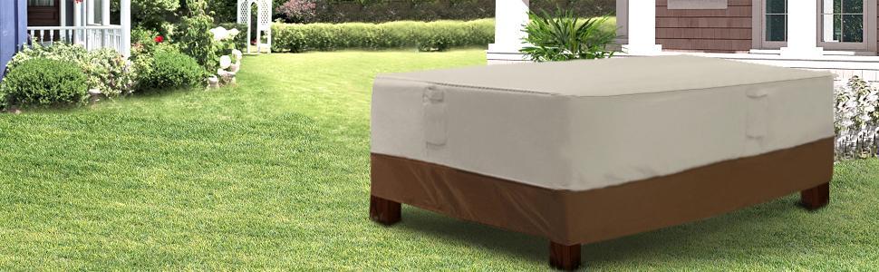 Amazon.com: SONGMICS - Cubierta redonda para mesa de patio y ...