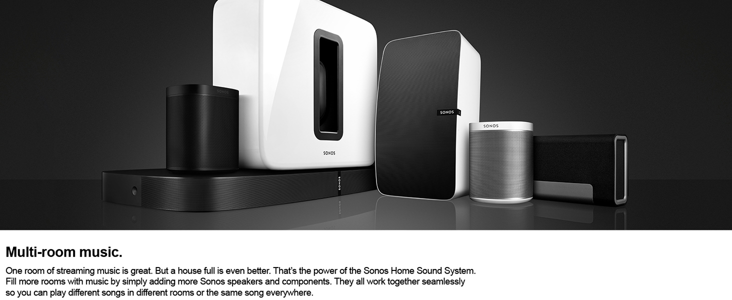 amazon com sonos play 1 compact wireless speaker for streaming
