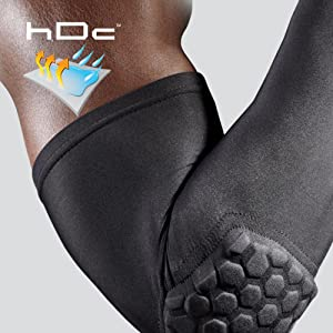 33d03f4e20 McDavid HEX is superior, closed cell foam padding. hDc Moisture Management  Technology keeps sleeve ...