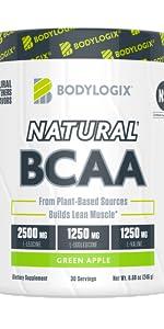 Natural BCAA branced chain amino acid green apple