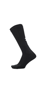 under armour crew socks, charged cotton, under armour cotton, ua, cotton crew, black crew sock, sock
