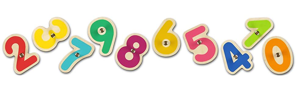 wooden numbers, number toy, numerical tool, counting toy , learn to count, interactive counting toy