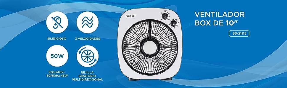 SOGO - Ventilador 10
