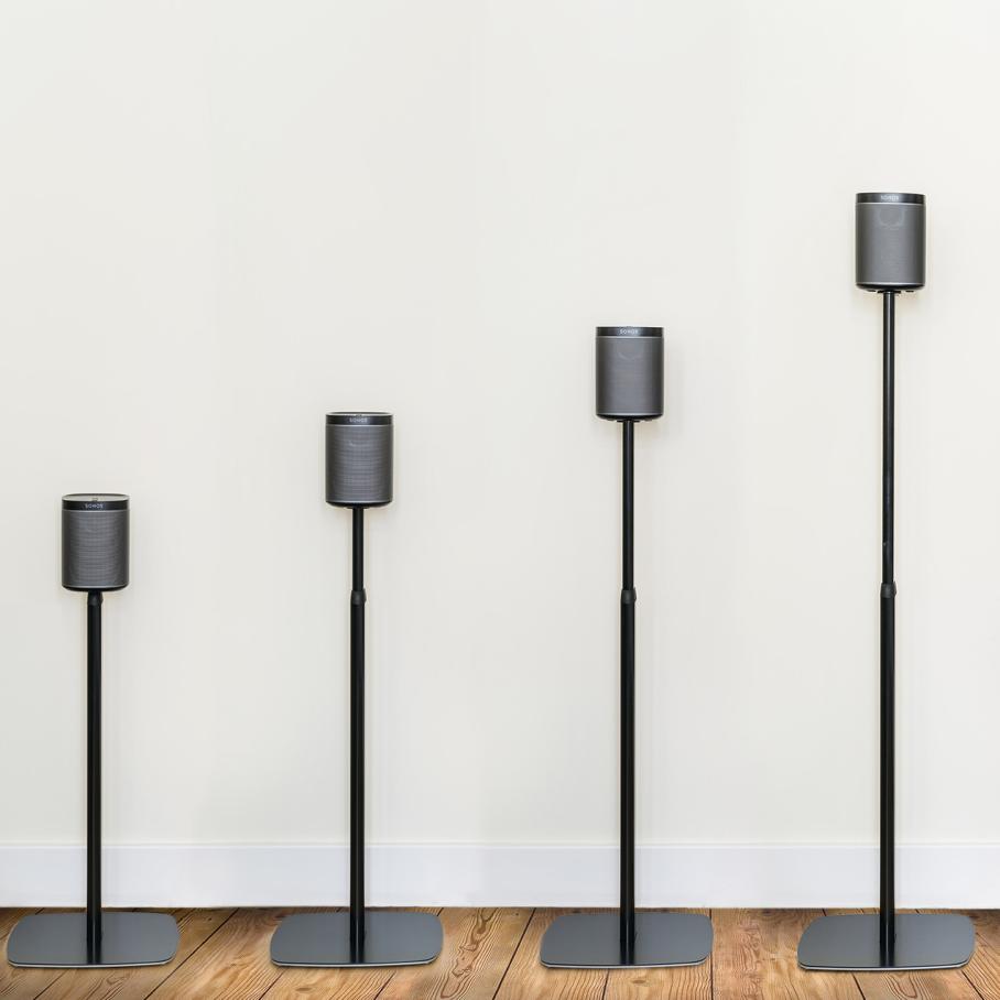 Flexson Adjustable Floorstand For Sonos Play 1 Black