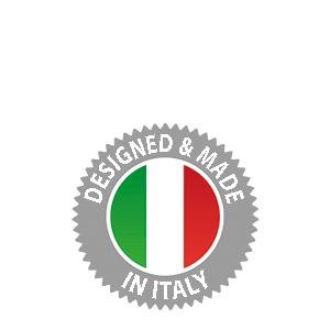 Gemaakt in Italië.