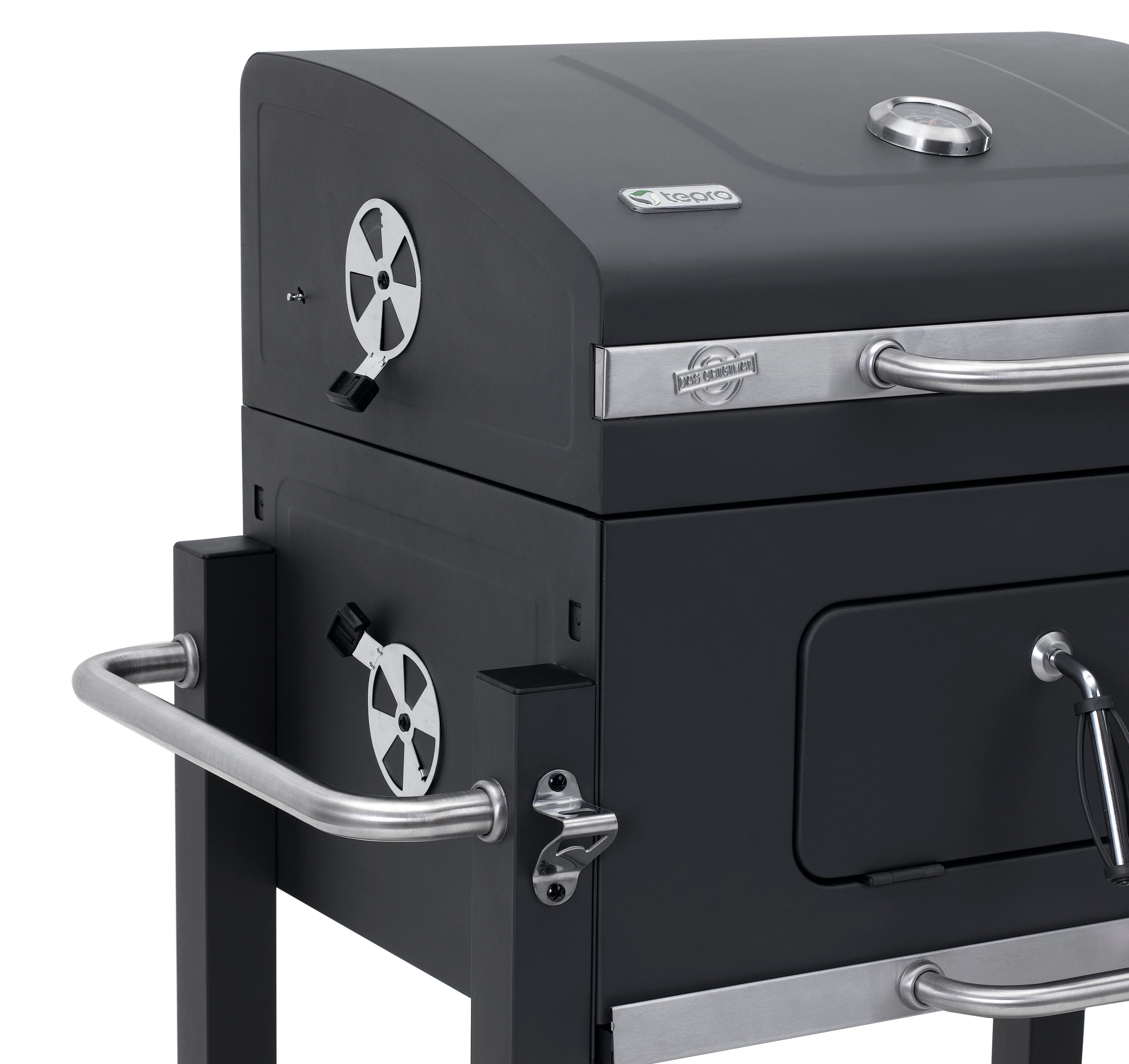 tepro grillwagen toronto xxl holzkohlengrill garten. Black Bedroom Furniture Sets. Home Design Ideas