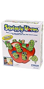 squiggly worms, matching