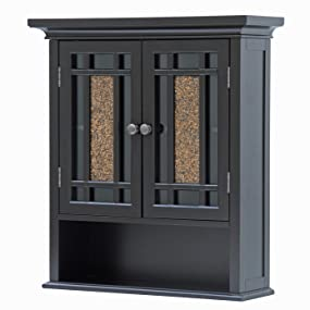 Amazon.com: Elegant Home Fashions Whitney Wall Cabinet with 2 ...