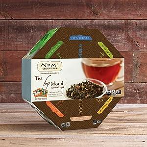 numi organic tea by mood gift set women mom box basket black green herbal variet pack assortment