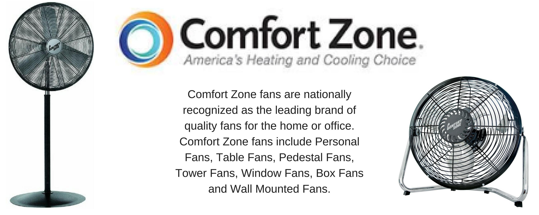 Comfort zone cz161 16 oscillating fan white for Confort zone