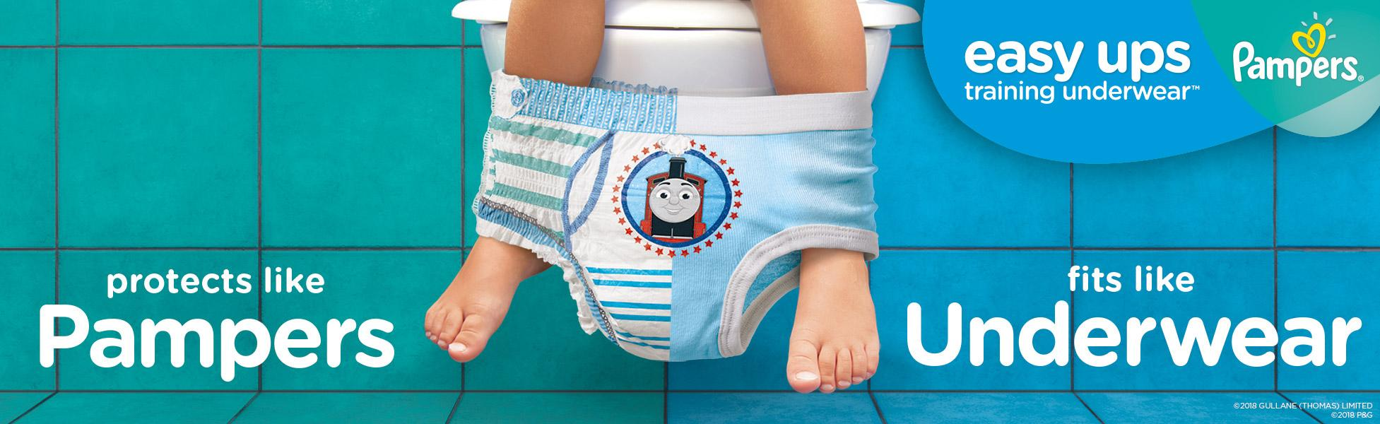 Pampers Toddler Training Underwear for Toddlers, Easy Ups ...