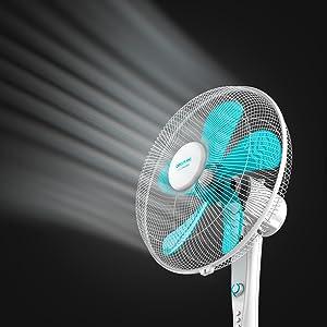 Cecotec Ventilador de Pie EnergySilence 520 Power White. 5 Aspas ...