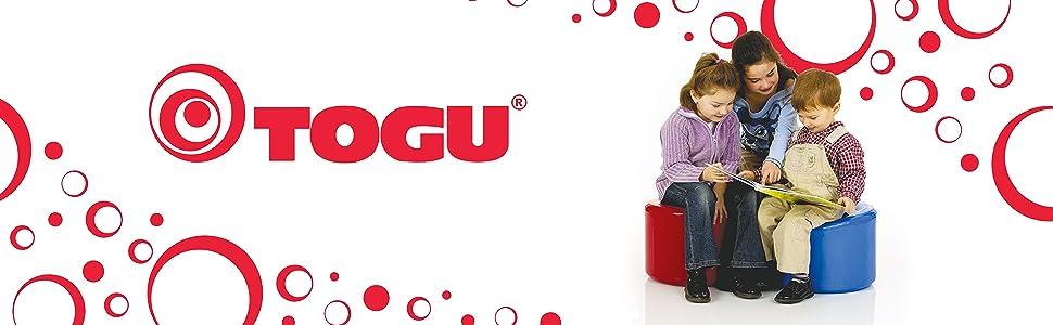 4 Height TOGU 30-4340R Dynair Balance Seat 11 Width 14 Length Red 14 x 11