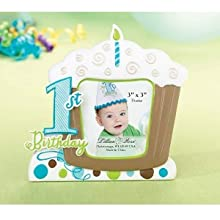 Blue First Birthday Picture Frame