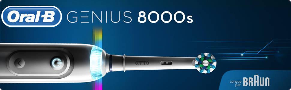 ORAL B - Oral-B Genius 8000 Brosse à dents électrique