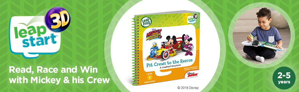 LeapStart 3D Mickey and the Roadster Racers Book