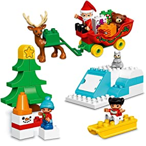 Christmas Set.Lego Duplo Town Santa S Winter Holiday 10837 Building Kit