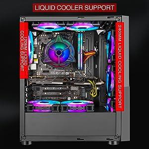 liquid cooler, cpu cooler, ice 120, ice120 ag, gaming case, ant esports