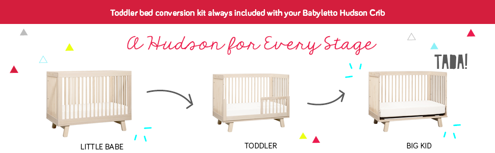 Amazon Babyletto Hudson 3 In 1 Convertible Crib With Toddler