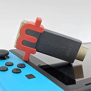 Nintendo Switch Accessories Retro Anti-aliasing no lag up-scaling graphics up-scaler 1440p mClassic
