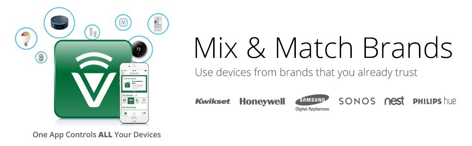 Works With Alexa, Nest, Bosch, Schlage, honeywall, smart device, control home, mix and match brands