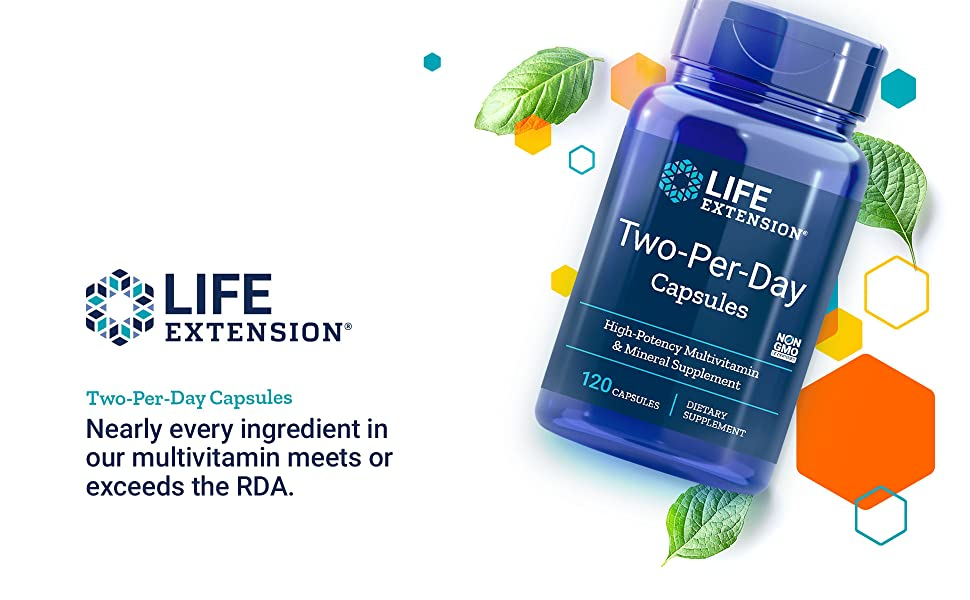 Two Per Day, Multivitamin, Life Extension