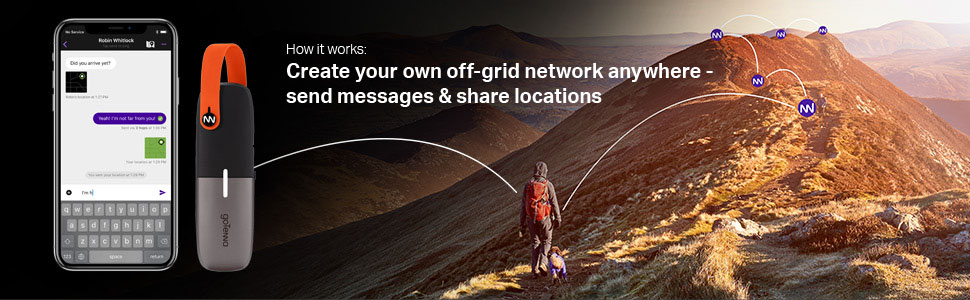 Off-grid sms and GPS phone pairing device