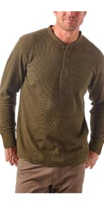 Wrangler Authentics Long Sleeve Waffle Henley