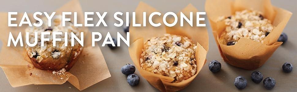 Wilton, silicone muffin pan, silicone cupcake pan, non-stick muffin pan, silicone bakeware