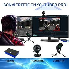 Stream Pack accesorios de captura de vídeo Full HD, micrófono y cámara HD para PS4/PS4 Slim/PS4 Pro/Xbox One/PC/Nintendo Switch: Amazon.es: Videojuegos