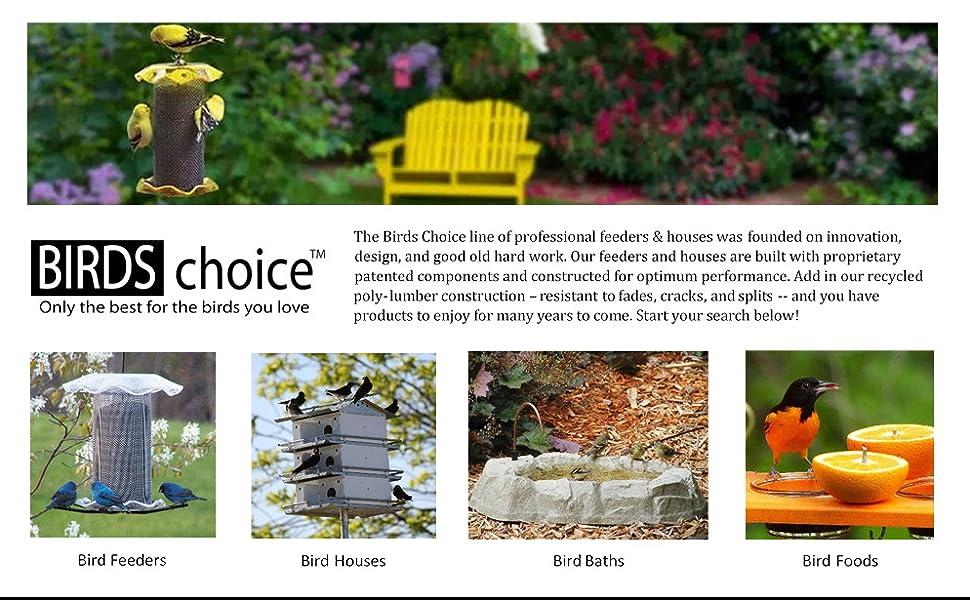 Birds Choice Bird Feeders Suet Bath House