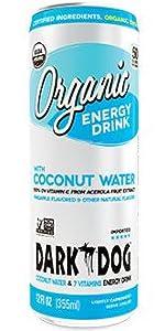 Dark Dog Organic Energy drink Coconut water