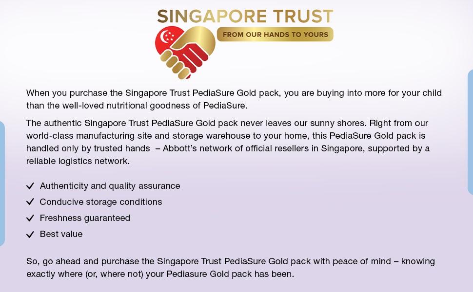 Singapore Trust, Pediasure, physical developmet, bone development, Immune support