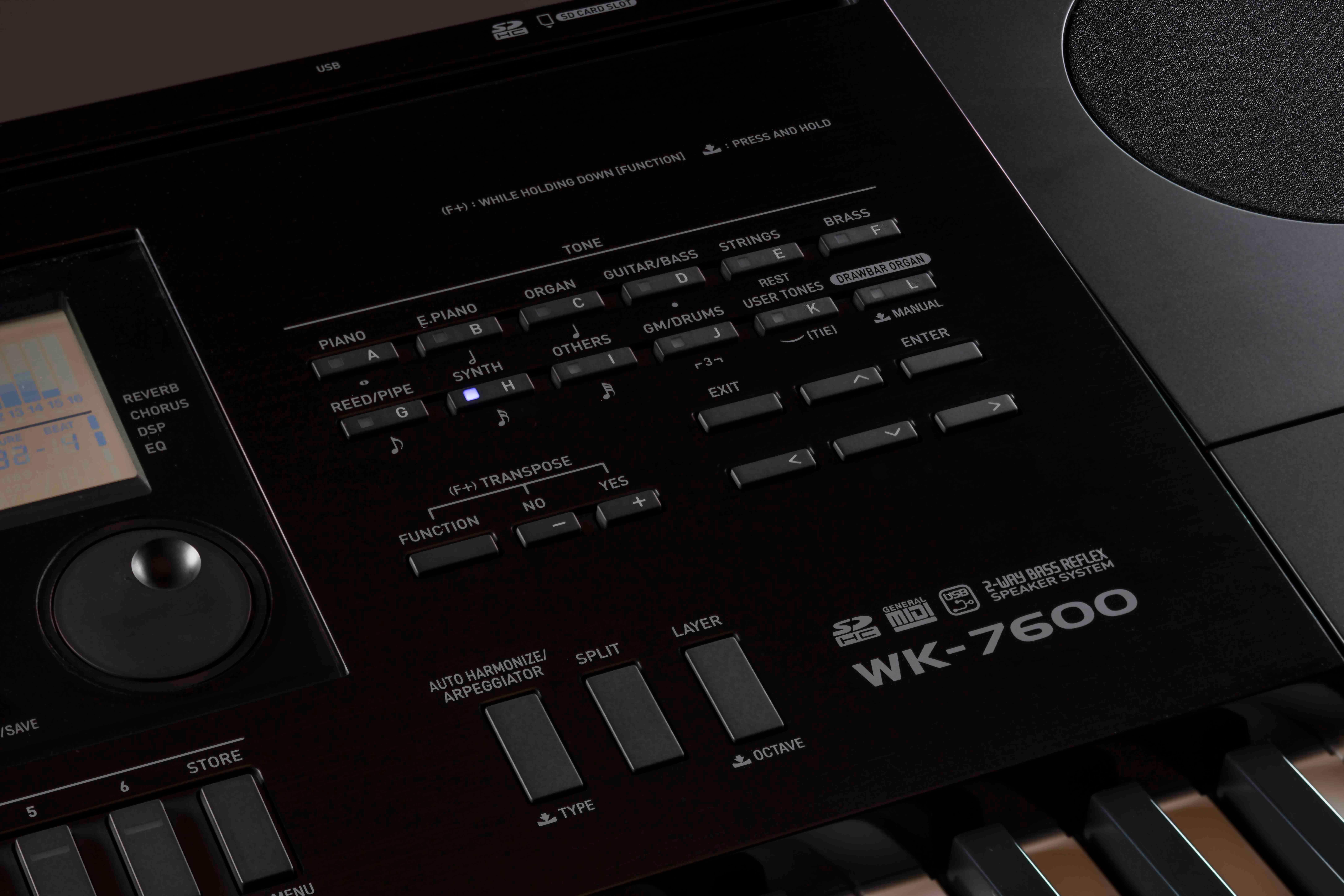amazon com casio inc wk245 76 key touch sensitive keyboard with