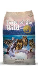 Wetlands, Fowl dog food, game dog food, natural dog food, dog food
